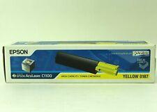 Genuine OEM Epson AcuLaser Toner Cartridge for C1100 YELLOW 0187