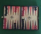 Vintage Travel Backgammon Set by Phillip Martyn - Folding Case 30 x 20 cm