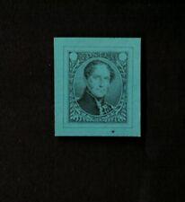 Belgium 1849 Delpierre Essay, Black on Green Blue Glazed Paper, Vf