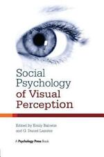 Social Psychology of Visual Perception (2015, Paperback)