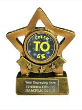 Couch to 5K Running Mini Star Trophy 8 cm Award ENGRAVED FREE
