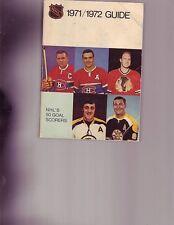 1971-72 NHL Media Guide Bobby Hull,Phil Espositio Johnny Bucyk Maurice Richard
