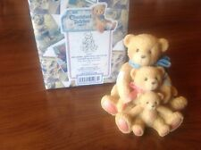 Cherished Teddies Figurine Theadore, Samantha and Tyler New w Box and Coa