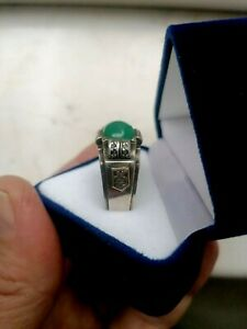 ANTIQUE IMPERIAL RUSSIAN   SILVER 84 AND DIAMOND RING 1890 YEAR