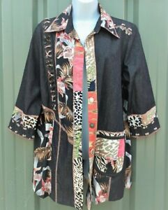 Vintage LADIES SHIRT/JACKET Size M Cotton/Rayon Blend 'FAITH' made in Indonesia