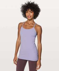 Lululemon Power Y Shelf Bra Tank Top Lilac Purple 6