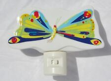 NIB ERIC CARLES THE VERY HUNGRY CATERPILLAR BUTTERFLY PORCELAIN WALL NIGHT LIGHT