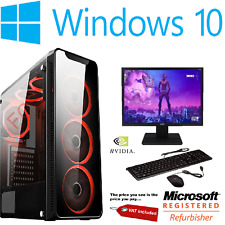 Cheap Gaming PC Intel Core i7 Win10 GTX1650 16GB RAM 120GB SSD 1TB HDD FORNITE