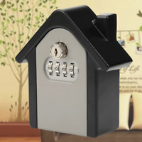 Durable Key Lock Box Wall Mount Safe Security Storage Case Organizer