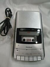 RadioShack Cassette Tape Recorder CTR-121 VOX Voice Activation AC/DC -WORKING