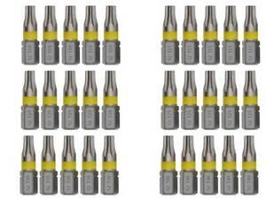 Torx Bits T10 T15 T20 T25 30 T40 Bitsatz TX Bit Schraubendreher Stahl S2 (21)