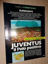 RARO INSERTO EUROCOPPE GUERIN SPORTIVO SPECIALE SORTEGGI ITALIANE 1986-87 1987
