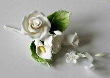 ROSE SPRAY WHITE, SMALL, Sugar Flowers, Cake Topper, Gum Paste Sugar Paste