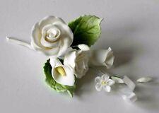ROSE SPRAY WHITE, SMALL, Sugar Flowers, Cake Topper, Gum Paste Sugar Paste
