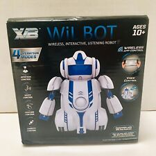 WiL BOT Wireless Interactive Voice Command Robot Toy Age 10+ iPhone Android NEW