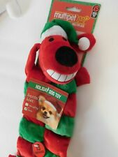 Christmas Pet Toy Red Dog Squeaker
