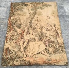 Antique French Large Floral tapestry Aubusson wall hanging Home Decoration 4x3