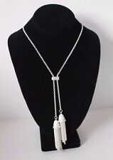 Olia Silver Colour Long Necklace with Tassel Jewellery Nickel Free