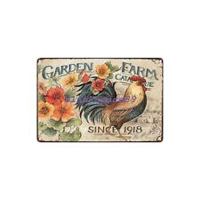 Metal Tin Sign garden farm Decor Bar Pub Home Vintage Retro