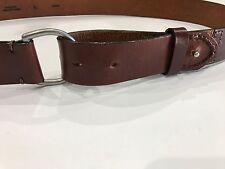 Eddie Bauer Large Mens Brown Leather Belt