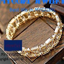 18K White Gold GP Made With Swarovski Crystal Elements Fashion Bangle Bracelet