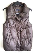 GAP Femmes Marron Sans Manches Gilet matelassé veste avec duvet taille S