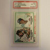 1978 Topps Baseball Card Batting Leaders # 201 Dave Parker Carew Graded PSA 8