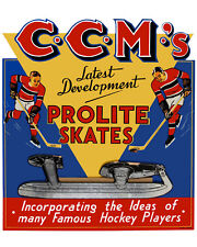 "CCM Old Fashion Tube Skate Advertisement Poster, 8""x10"" Photo"