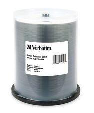 Verbatim CD-R White Inkjet Hub Printable 52x 700MB 100-Pack Spindle