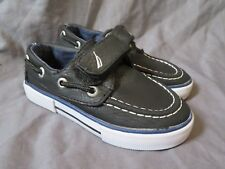 "Toddler Boy's Nautica ""Little River 2"" Black Faux Leather Loafer Shoes ~ Size 7"