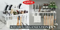 K0001 Kitchen Organization Rack Wall Mount Tool Cookware Holder Shelf Hanger