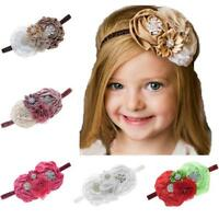 Baby Girl Flower Hair Accessories For Girls Infant Elastic Rhinestone Hair Band