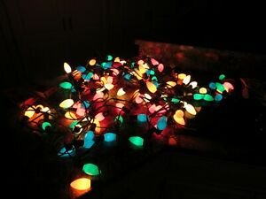 Vintage Lot Of 4 Sets of 25 C9 Multicolor Outdoor Christmas Lights  TESTED 🎄🎄