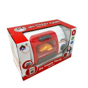 Kids Children Pretend Home Appliance Red Battery Operated Microwave Oven Set