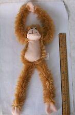 "Plush Hanging Monkey, Soft & Cuddly stuffed animal w/Velcro Hands, 19"" hanging."