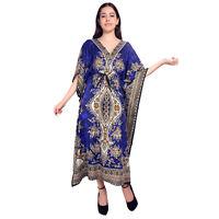 Gamla Long kaftan Indian Women's Nightwear Dress Maxi For Ladies