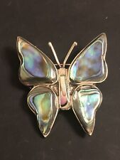 Signed Alpaca (B.506) Vintage Shell Butterfly brooch
