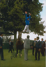 Frankie DETTORI Jockey Signed Autograph 12x8 Photo AFTAL COA Jump Dismount RARE