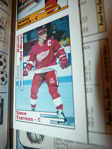 """""""SCD"""" May92 w/Mint Insert Cards including Steve Yzerman Detroit Red Wings RARE!"""