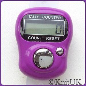 KnitUK Digital Tally Counter. KnitUK Knitting Row Counter. choose colour