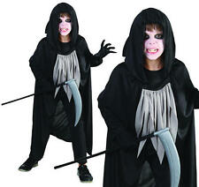 Childrens Grim Reaper Fancy Dress Costume Kids Ghost Halloween Outfit S