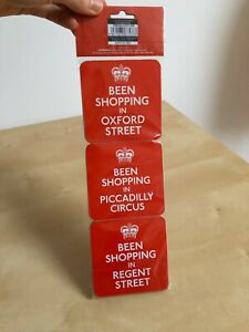 Keep Calm Coaster Set Of 6 Red New In Original Packaging, Unused Excellent Cond.