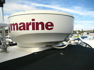 Raymarine C80 Chartplotter Display with Radar Radome, All radar & MFD  Cabling