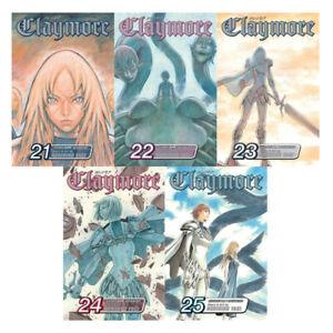 CLAYMORE English MANGA Fantasy Series by Norihiro Yagi Set of Book Volumes 21-25