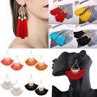 Fashion Bohemian Earrings Women Long Tassels Fringe Boho Dangle Earrings Jewelry