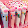 10 in 1 Multicolor Flamingo Ball Point Pen Cartoon Student School Ballpoint Pen