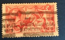Grande Bretagne N° 154 5 Shilling Rouge Oblitéré.  Cote 250€