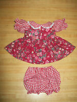"""RIBBONS BOWS for 16-17/"""" CPK Cabbage Patch GREEN FLOWERS DRESS SUNDRESS W// LACE"""
