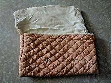 Handmade Vintage Quilted bag soft Silk Pink Travel Storage Floral Glass button