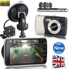 HD 1080P Car DVR Video Recorder Dual Lens Dash Cam Rearview Camera Night Vision